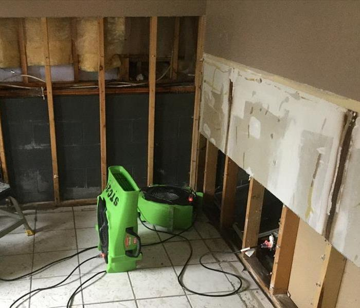 Water damage to the lower level in a home; let SERVPRO of St. Cloud help! After