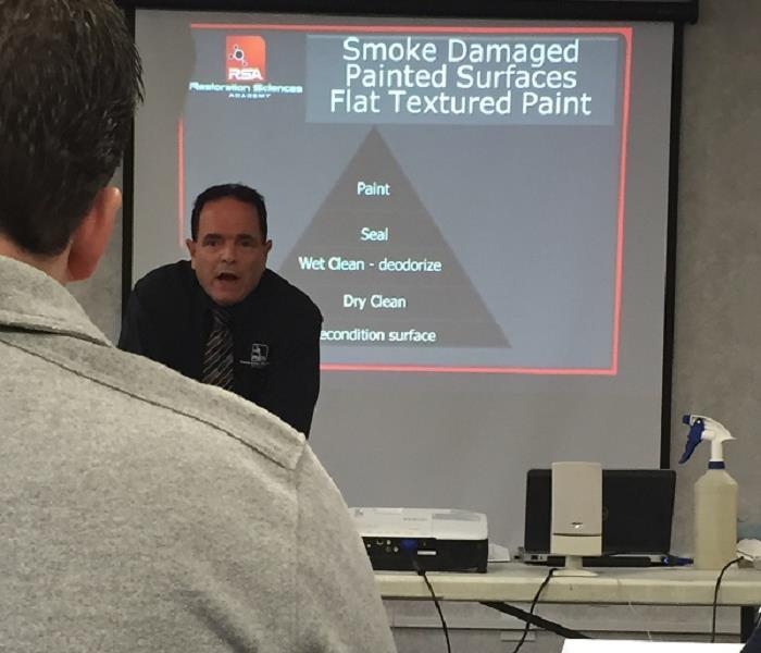 Participating in continuing ed classes to gain more knowledge regarding fire damage repairs.