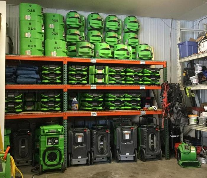 Several items of SERVPRO equipment.