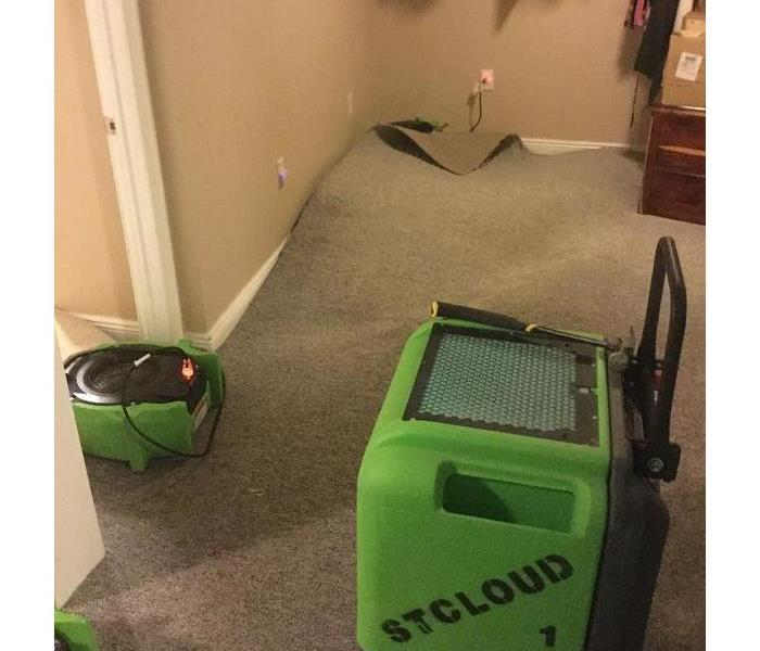 SERVPRO of St. Cloud is restoring carpet from a water loss.