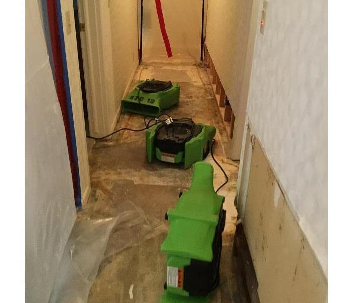 SERVPRO of St. Cloud is drying out a basement!