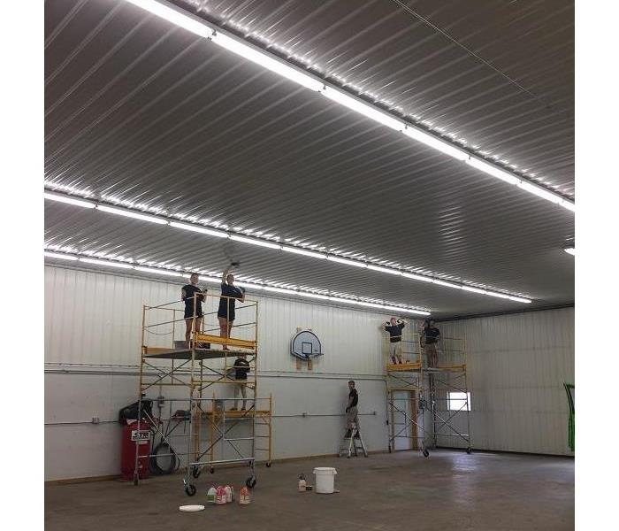 SERVPRO of St. Cloud is cleaning a large pole shed!