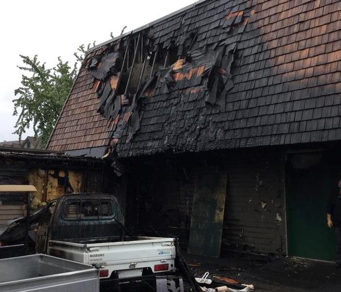 Fire at commercial property needs help from SERVPRO of St. Cloud!