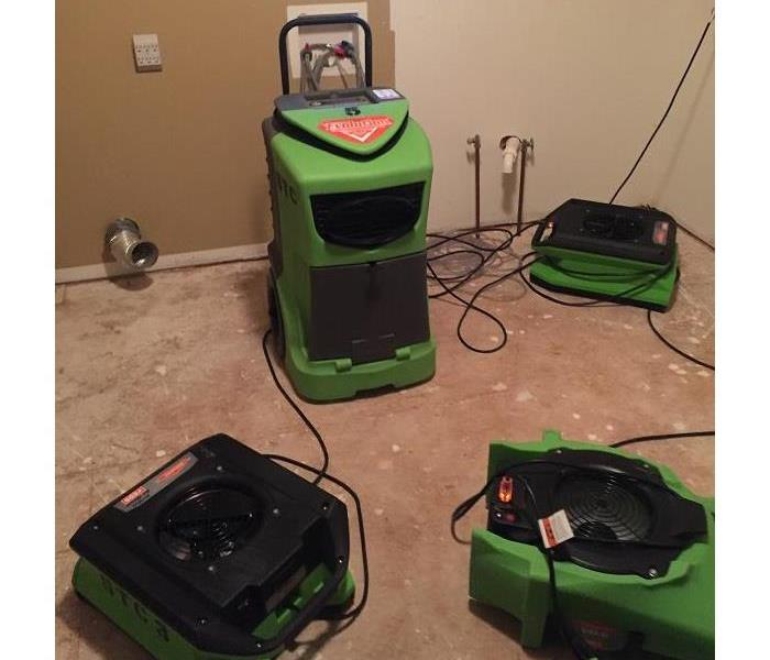 SERVPRO of St. Cloud is drying out a laundry room!