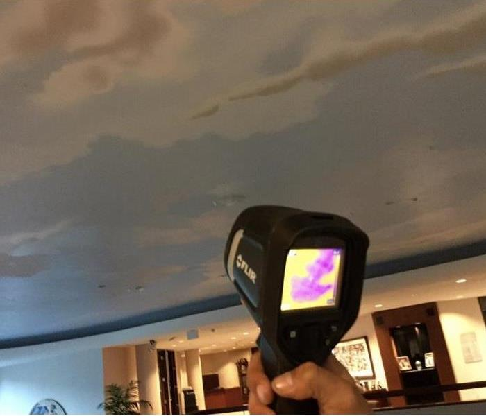 SERVPRO of St. Cloud using a infrared camera to help remove water