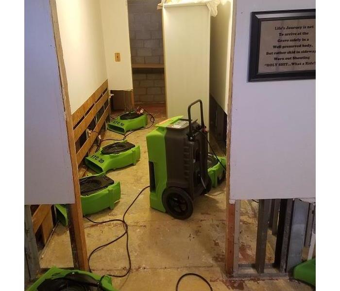 SERVPRO of St. Cloud repairing a basement!