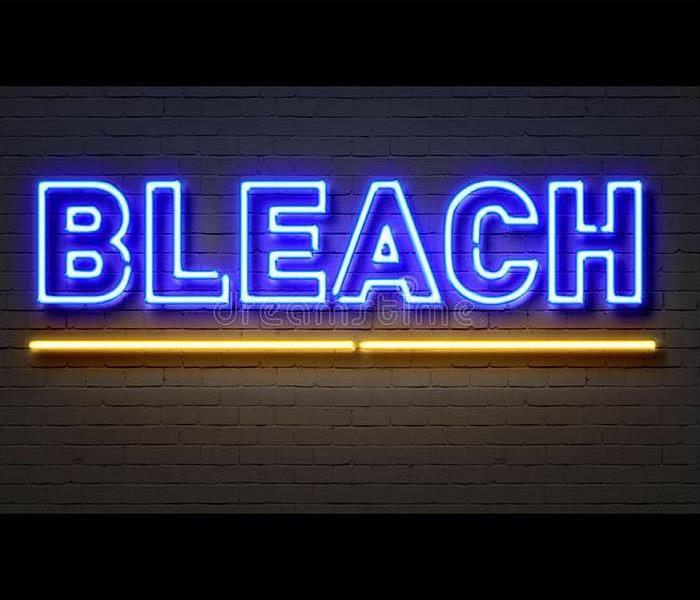 It is the letters spelling out the word BLEACH.