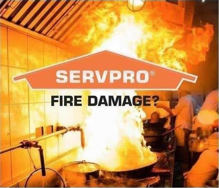 Fire background that says 'SERVPRO'.